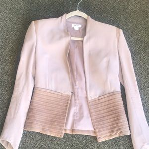 Helmut Lang Leather Accented Wool Blazer